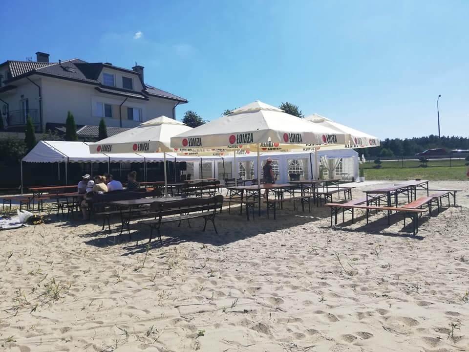 przyjęcie na plaży nad Zegrzem